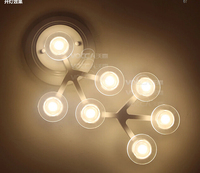 Modern Brief Acryl Wall Lamp 12heads 12w Novel Creative DIY White Flower LED Wall Light For