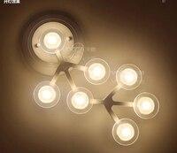 Modern Brief Acryl Wall Lamp 12heads 12w Novel Creative DIY White Flower LED Wall Light For