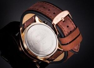 Image 4 - למעלה מותג CURREN גברים ספורט שעונים קוורץ זכר שעון הכרונוגרף אופנה תאריך עור שעוני יד Hodinky Montre Homme