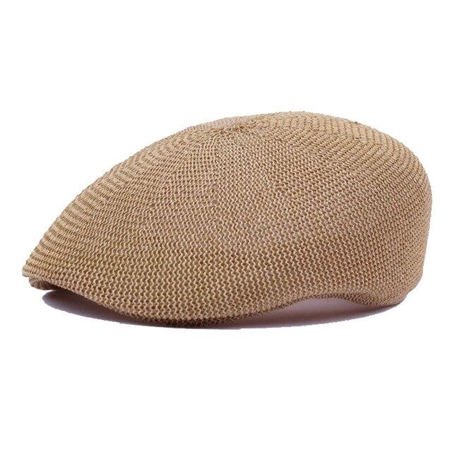 14e9e5e3d8 Surblue Mens Beret Summer Mesh Breathable Beret Cap for Men Male Dad hat  Outdoor Sunscreen Sun Hat Sun Protection