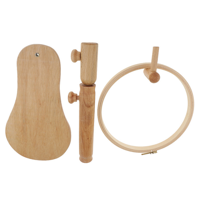 Image 4 - 1pcs Cross Stitch Hoop Set Embroidery Stand Hoop Wood Embroidery Shelf and Adjustable Embroidery Hoop Ring Frame DIY Sewing Tool-in Sewing Tools & Accessory from Home & Garden