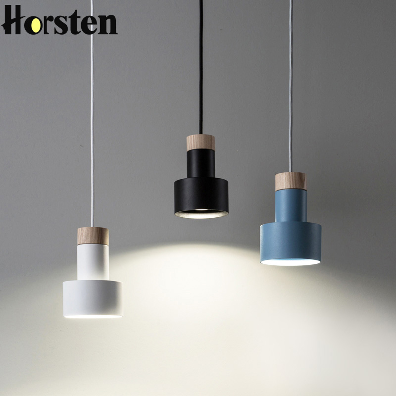 Nordic Pendant Lights Wood Aluminum Lampshade Hanging Lamp Industrial Lighting For Bedroom Living Room Restaurant E27 90-260V a1 master bedroom living room lamp crystal pendant lights dining room lamp european style dual use fashion pendant lamps
