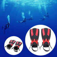 New Swimming Fins For Adults 2Pcs Unisex Swimming Training Shoes Long Swimming Fin Webbed Diving Flippers