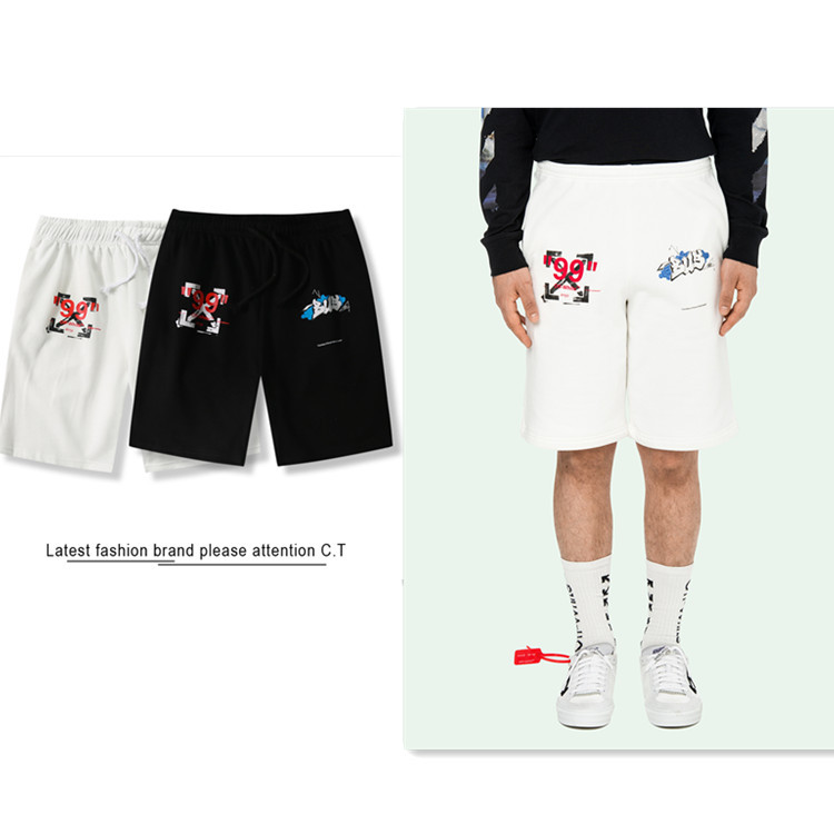 Men's Shorts Summer New Street Hip Hop Popular Arrow 99 Cotton Sports Students Five Points Hot Shorts