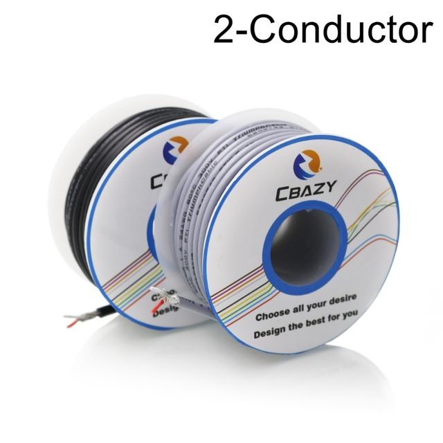 2C Black 8M UL 2547 24 AWG Multi core control cable copper wire ...