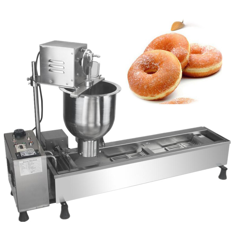 Electric donut maker doughnut deep fryer snack food making machine fast food leisure fast food equipment stainless steel gas fryer 3l spanish churro maker machine