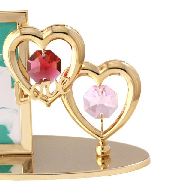 Crystal mini hearts photo frame Love couple birthday gifts to send ...