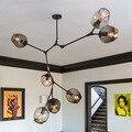 Лофт Промышленные люстры Глобус стеклянные светильники современный минималистский дизайн люстра висит в гостиной/ресторан E27 лампы