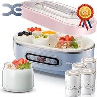 Йогуртницы 2 лот лайнер 8 шт. фарфор стаканчик йогурта терморегулятор Кухня прибор Мультиварка