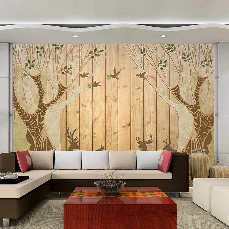 Custom 3d mural wall paper Personalized romantic minimalist living room bedroom TV backdrop Tree leaf photo wallpaper painting custom 3d stereoscopic large mural wallpaper wall paper living room tv backdrop of chinese landscape painting style classic