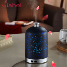 Mini Home Aroma Humidifier Ultrasonic Essential Oil Diffuser Aromatherapy Gypsophila LED Night Light For Cool Mist Maker