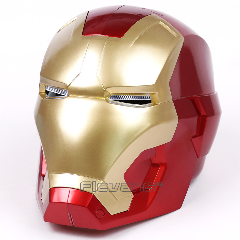 Iron Man Adult Motorcycle Helmet Cosplay Mask Touch Sensing Mask with LED Light Collectible Model Toy 1:1 High Quality 2017 new cartoon mask the avengers superhero led iron man mask action figure model toys halloween cosplay gift for adult