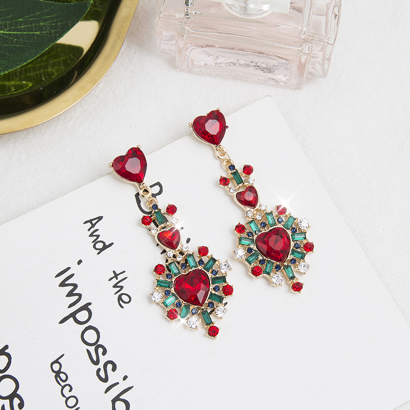 HTB1dZoPXoLrK1Rjy0Fjq6zYXFXa1 - 2019 New Hot Sale 20 Style Red Fashion Korean Elegant Geometric Dangle Earrings for Women Cute Pendant Mujer Jewelry