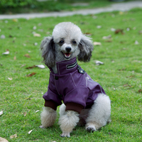 Pet Clothes Automobile Race Clothing Leather Clothing Thermal Dog Clothes Teddy Vip Quality Autumn And Winter