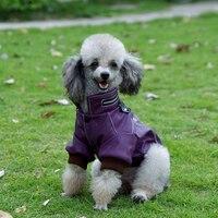 Pet elbise otomobil yarışı giyim deri giyim termal köpek giysileri oyuncak vip kalitesi sonbahar ve kış deri giyim