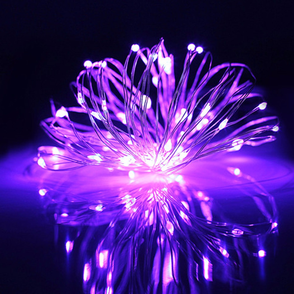 2PCS/Lots 3M 30 Led 3 AA Battery Powered Decorative LED Copper Wire Fairy String Lights Lampada for Christmas Wedding Party Xmas