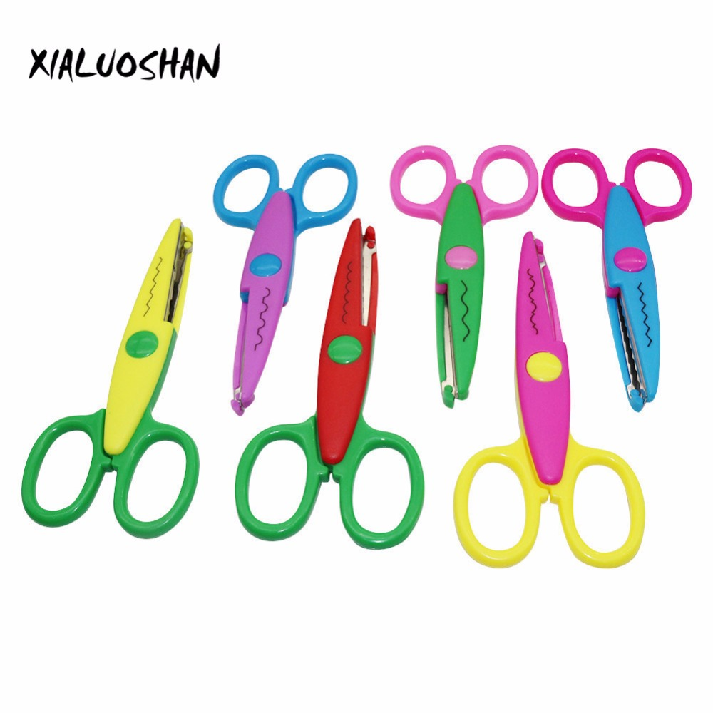 1 Pcs 6 Styles Selection Lace DIY Scissors Scrapbook Paper Photo Tools Diary Decoration Safety Scissors