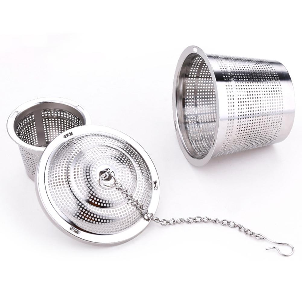 304 Stainless Steel Tea Ball Strainer Reusable Tea Herb Locking Filter Infuser For Pot-stewed Seasoning Stewing Soup Spices Mug