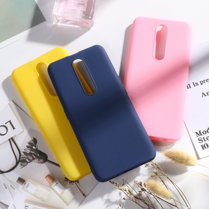 Matte Candy Case for OPPO F11 Pro A83 A79 F5 A73S A71 A7 A5 A3S A59 A39 A57 A37 A33 A3 Cases for OPPO K1 F9 F7 F3 Bumper Funda in Fitted Cases from Cellphones Telecommunications