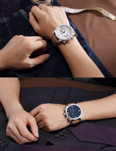 Image 5 - MEGIR Date Chronograph Wrist Watch Top Luxury Brand Mens Military Sport Army Clock Men Male Classic Quartz Watches Gift Box 3010