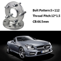 2pcs 5x112 66.5CB Centric Wheel Spacer Hubs M12*1.5 Bolts For Benz SLK R171 R170 E Class W214/210A Class W168 C Class W203