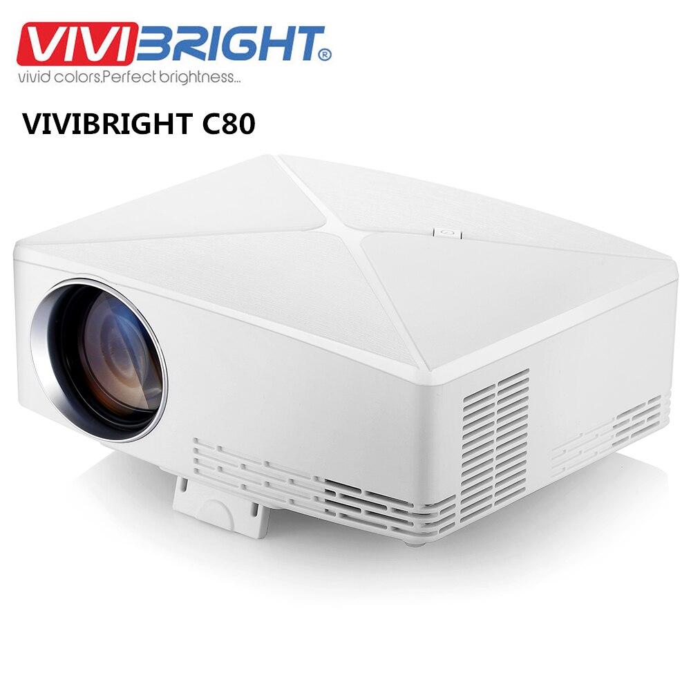 VIVIBRIGHT C80 UP LCD projecteur Home cinéma HDMI 1500 Lumens Amlogic S905X Support 1080P USB Android Bluetooth 4.0 pour ordinateur portable