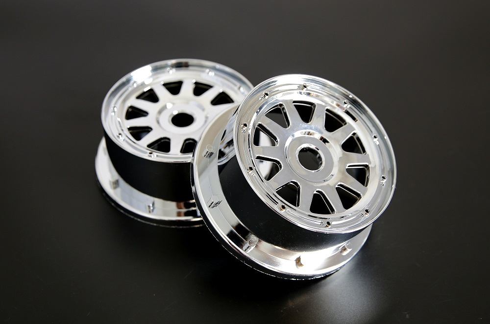 Chrome Plastic baja Front Wheel hub set for 1/5 HPI Baja 5B Parts Rovan KM 2.0 3.0(2*front) rovan gas baja 30 5cc 4 bolt chrome engine with walbro carb and ngk spark plug for 1 5 scale hpi km losi rc car parts