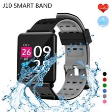 купить Smart Watch J10 Heart Rate Smart Bracelet Sleep Monitor Fitness Tracker Blood Pressure Watch Color Screen Activity Tracker Band по цене 705.52 рублей