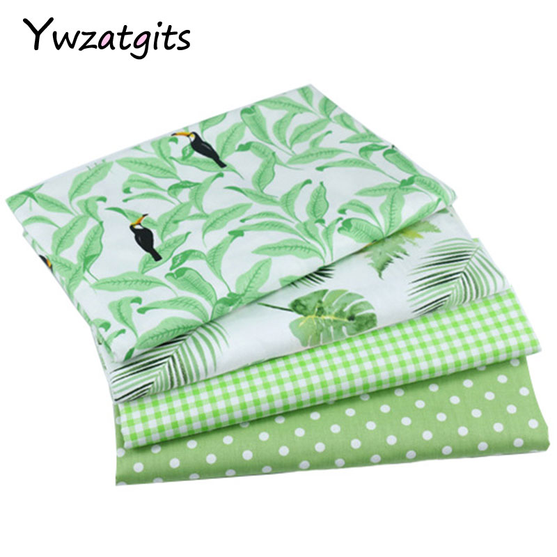 Ywzatgits 100*160cm Cotton Printed Fabric Green Lattice Sewing Textile Quilting Patchwork Diy Sewing Accessories 026029109 Arts,crafts & Sewing Home & Garden