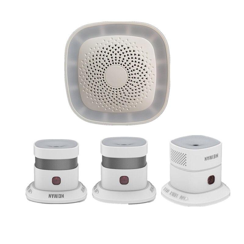 Heiman Zigbee умный шлюз/концентратор с детектором дыма домашняя защита сигнализация управление с помощью приложения