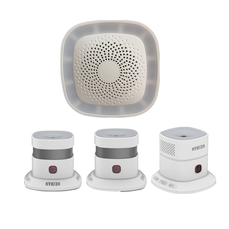 Heiman Zigbee Smart gateway/Hub with Smoke detector Home protection alarm control by App jiawen zigbee bulb smart bulb wireless bulb app control work with zigbee hub free shipment