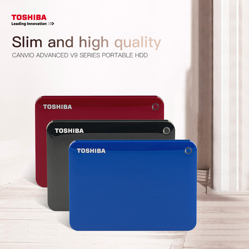 TOSHIBA Canvio 2 5 quot External Hard Drive 1TB 2TB HDD USB 3 0 Hard Drive HD Portable Hard Disk disco duro externo HDD For Laptop in External Hard Drives from Computer amp Office