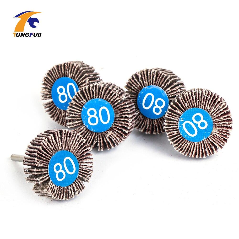 5Pcs Sandpaper Sanding Flap Wheels Sanding Disc Dremel Accessories Polishing Polishing Wheel For Rotary Power Tools