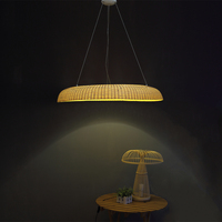 Bamboo Restaurant chandelier ring lamp, LED lamp pole creative personality tea, bamboo lamp ZA zb35