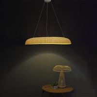 Bamboe Restaurant kroonluchter ring lamp, LED lamp pole creatieve persoonlijkheid thee, bamboe lamp ZA zb35