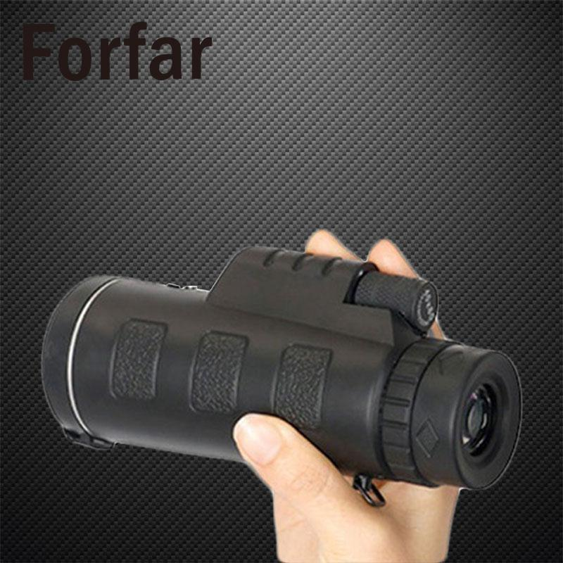 40X60 HD Pro Optics Outdoor Travel Monocular Telescope Phone