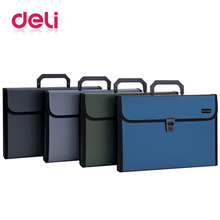 Deli 1PCS Document Expanding Wallet A4 12 packet durable Manage files Organizer Paper Holder Filling Products