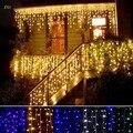 220 V 3.5 m Cair 0.3-0.5 m Plug UE Cortina Icicle Luzes Da Corda Natal Ano Novo Luzes De Natal Luces Navidad natal Casamento