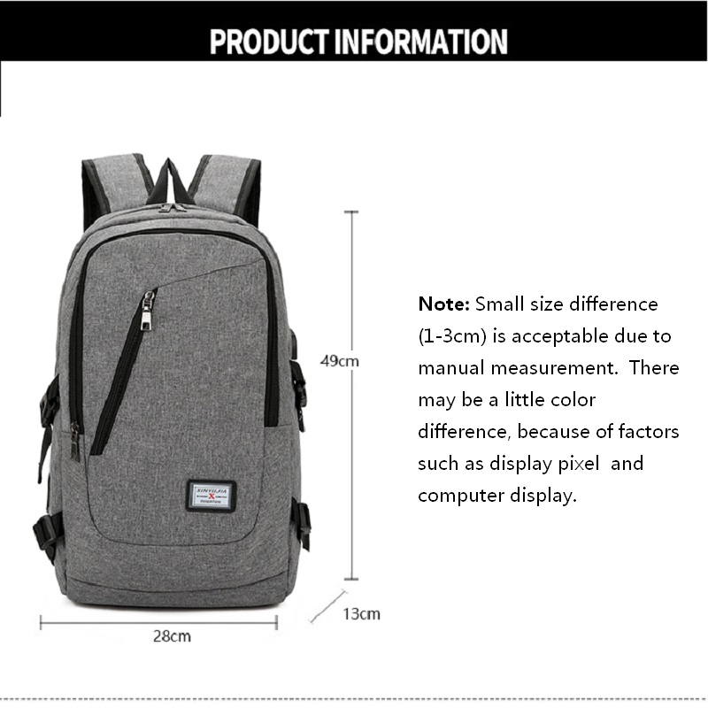 09da0fd0c0cb Unisex casual backpack Laptop USB Charging Pack Adult Student Bag Business Backpack  Waterproof Travel Backpack rugtas meisje-in Backpacks from Luggage ...
