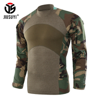 2018 Men Clothes Autumn Long Sleeve Camouflage Tactical T Shirts Military Army SWAT Airsoft Paintball Force Combat Tee Top Shirt