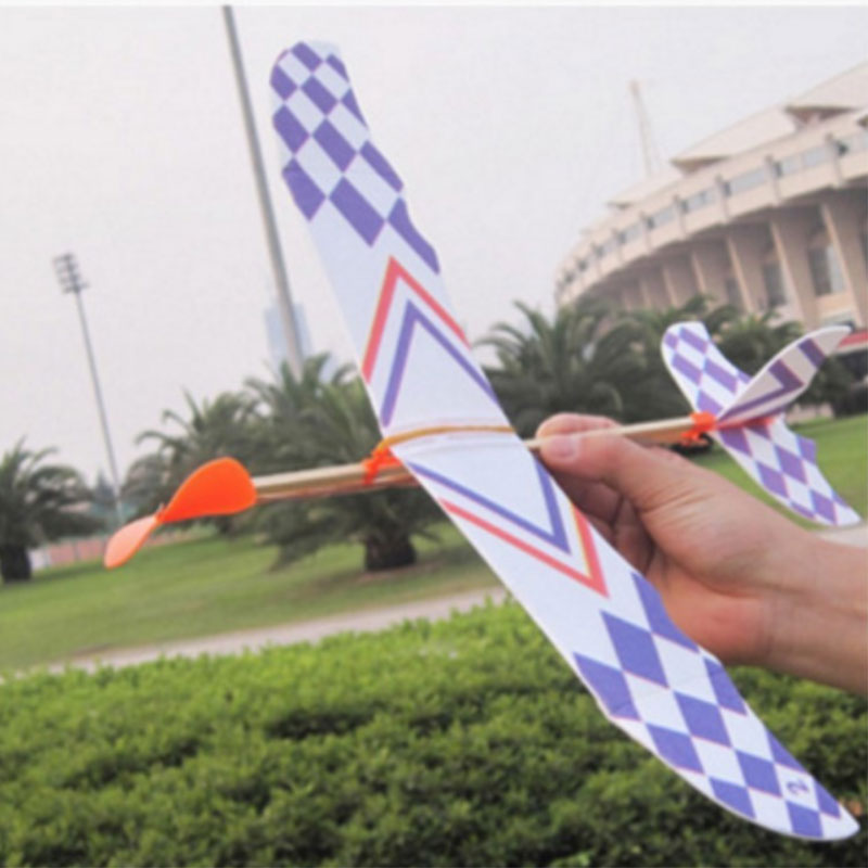 Flying Glider Planes Aeroplane Toys Rubber Band Childrens Gift Fun Fantastic