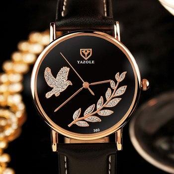 YAZOLE 2017 Wrist Watch Women Ladies Brand Famous Female Wristwatch Clock Quartz Watch Girls For Montre Femme Relogio Feminino lo ultimo en reloj tourbillon