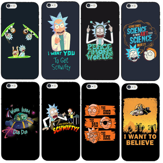innovative design c698b 96a1c US $1.66 30% OFF|Funny Cartoon Comic Meme Rick And Morty Phone Case For  iPhone X 6 6S 7 8 Plus 5S SE Soft silicone Protective Cover Coque Skin-in  ...
