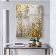 Modern Abstract canvas Oil Paintings Hand painted gold Painting picture wall paintings Living Room home Decoration