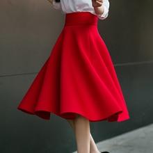 5XL Plus Size Skirt High Waisted Skirts Womens White Knee Length Bottoms Pleated Skirt Saia Midi Pink Black Red Blue 2018