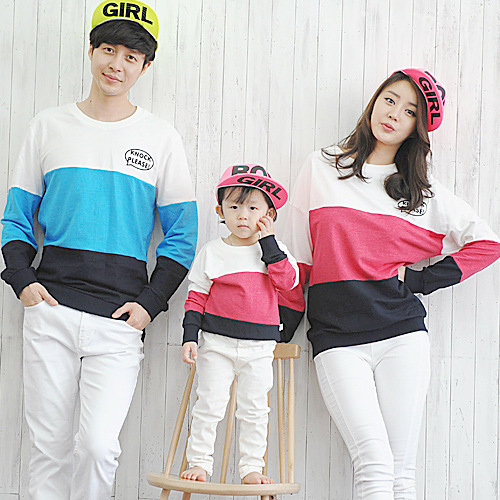 winter 2016 Korean family matching clothes cotton Long sleeve t-shirts Family Pack factory direct Couples clothing wholesale