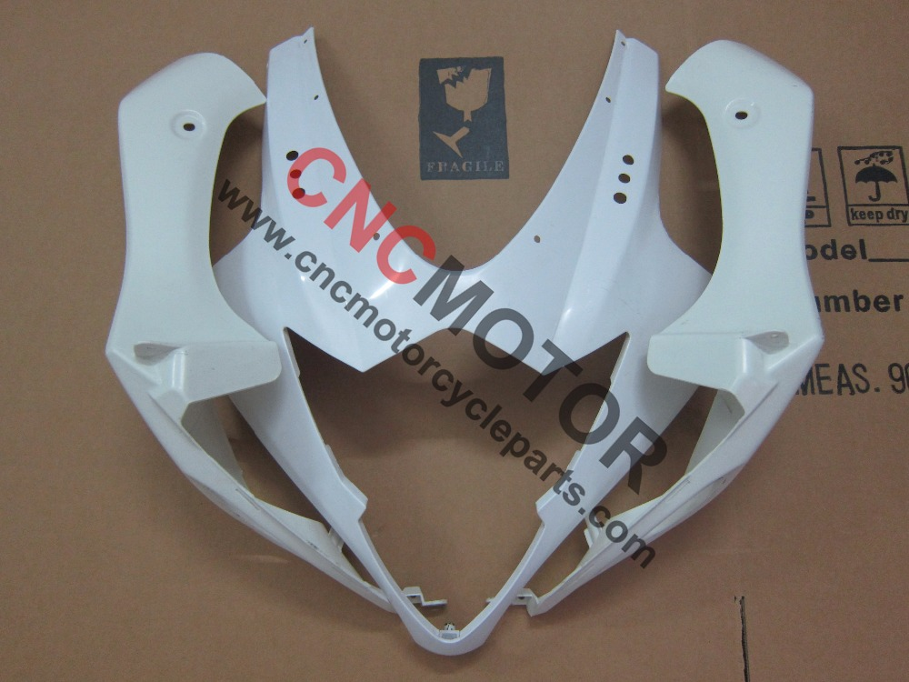ФОТО 3 pieces Unpainted ABS Injection Mold Upper Front Nose Fairing Kit Body Work For Suzuki GSX-R GSXR1000 2005-2006
