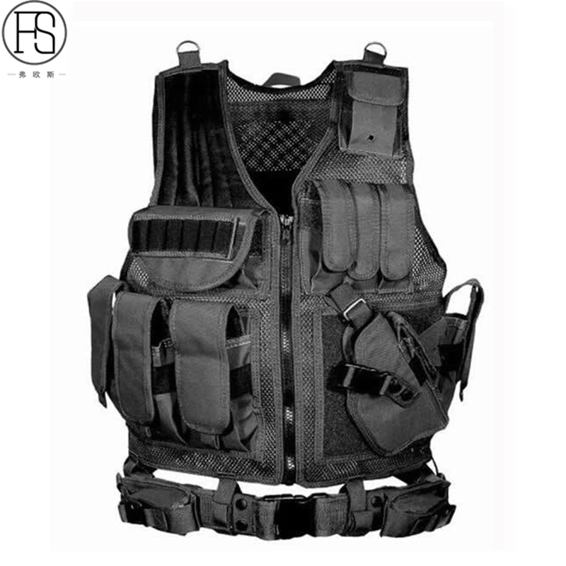 Military Equipment Airsoft Tactical Vest Hunting Vest For Wargame CS Training Paintball Airsoft Combat Protective Vest airsoft adults cs field game skeleton warrior skull paintball mask