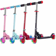 children foot scooters flashing alloy kids t shaped scooter for kids kick scooter with aluminum pu wheel Children Scooter Tricycle  Kick Scooter Adjustable Children Foot Scooter Folding Kids Scooters Best Gifts Patinete for Boys Girl