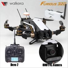 F16888/89 Walkera Furioso 320 GPS FPV Quadcopter + TVL800/1080 P Cámara + Devo7 2.4G Transmisor + Goggle2 Gafas OSD PPC Modular